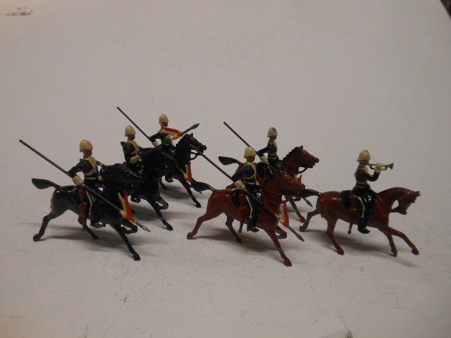 Britains from set #73 the 17th Lancers, Ulandi
