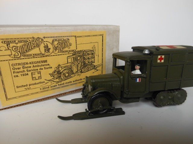 Soldiers by Bob Citroen-Kegresse Snow Ambulance