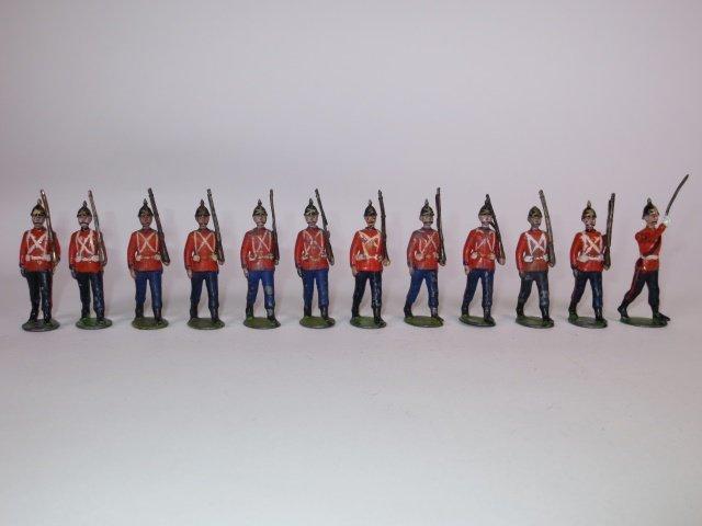 Britains from set #29 Royal West Surrey Regiment