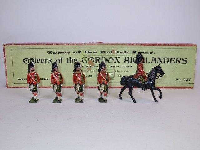 Britains Set #437 Officers of Gordon Highlanders