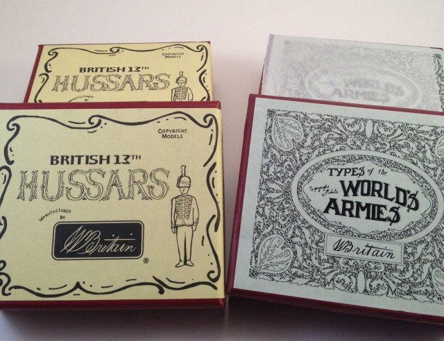 Britains 49021 & 49023 13th Hussars & Scouts