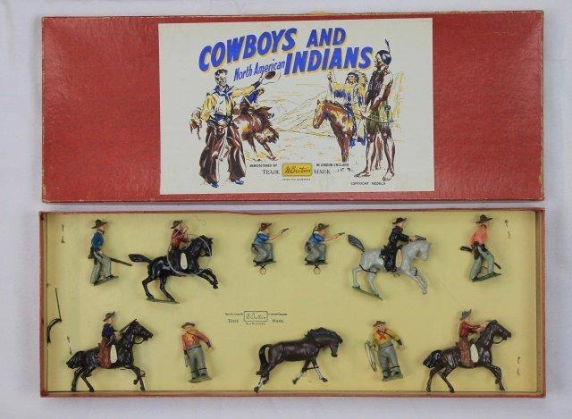 Britains Set #209 Cowboys Mounted and Foot