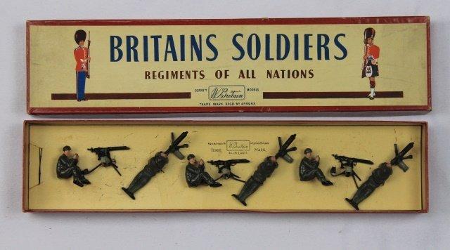 Britains Set #1318 Machine Gun Section