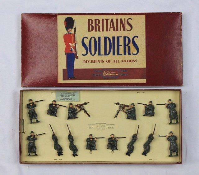 Britains Set #1383 Belgian Infantry Display