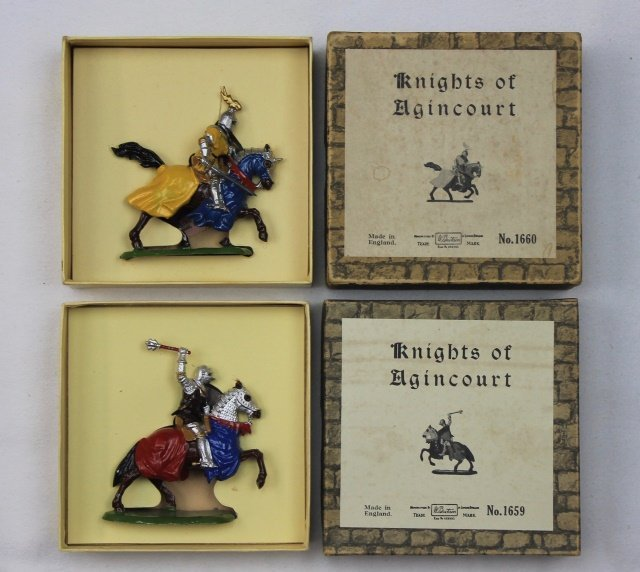 LOT Britains #1659 and #1660 Agincourt Knights