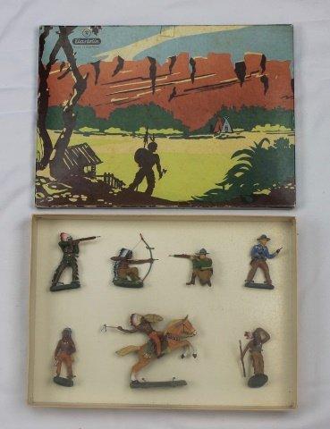 Elastolin Set #7063-7 Cowboys and Indians