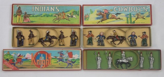 LOT Sonsco Japan Knights Cowboys Indians