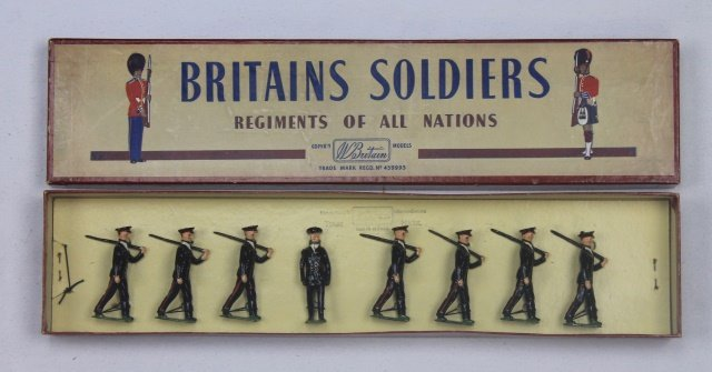 Britains Set #2030 Australian Infantry in Blue