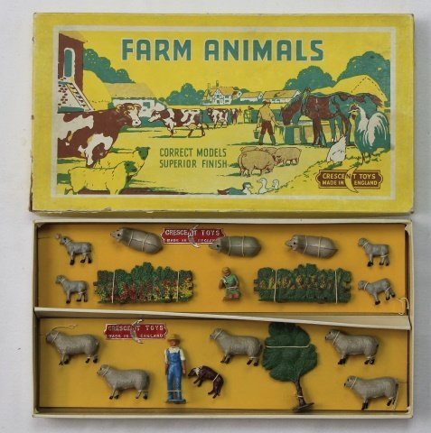 Crescent Farm Set with Sheep Herder
