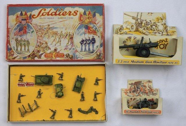LOT Crescent 20mm Khaki Troops and Guns