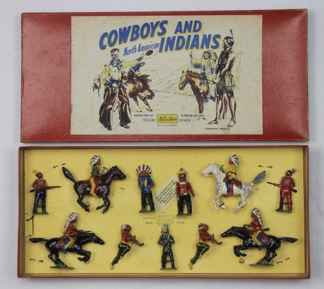 Britains Set #208 Indians Mounted and Foot