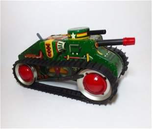 Marx Climbing Tank Wind-up Tin Toy