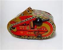 Marx U.S. Army Tank No. 3 Wind-up Tin Toy
