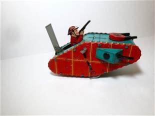Marx Doughboy Tank Wind-up Tin Toy