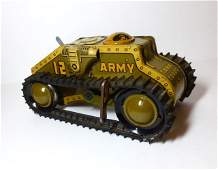 Marx Tank Army Corps 12 Wind-up Tin Toy