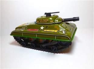 Marx U.S. Combat Tank Division Wind-up Tin Toy