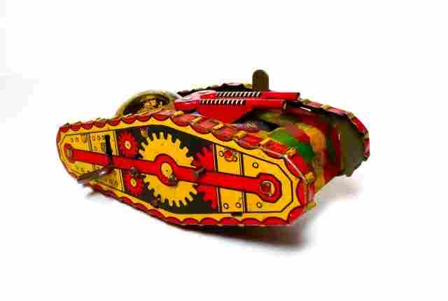 Marx Midget Climbing Tank Wind-up Tin Toy