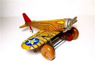 Marx U.S. Army 712 Airplane Wind-up Tin Toy