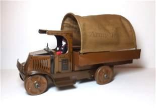 Marx U.S.A. Army Truck No.10 Wind-up Tin Toy