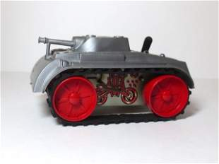 Marx Silver Army Truck Wind-up Plastic & Tin Toy