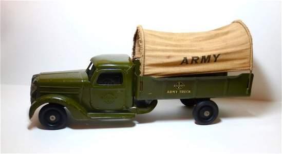 Buddy L. Army Truck Pressed Steel Toy