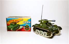 Gama T-65 Tank Wind-up Plastic Toy