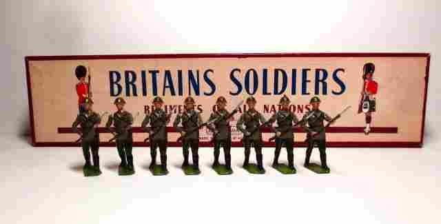 Britains Set #2032 The Red Army Steel Helmets