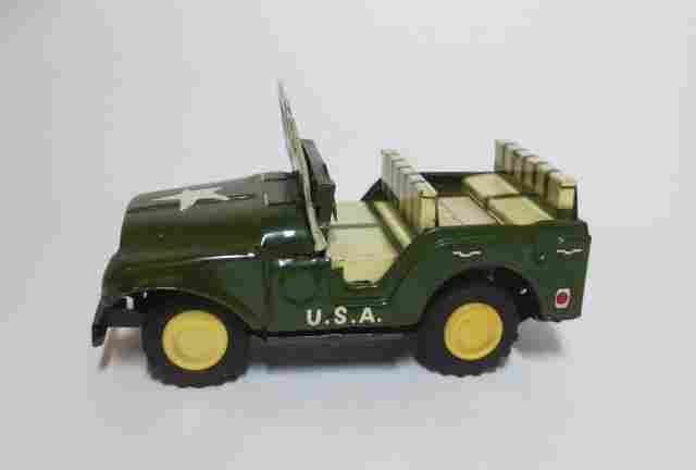 Unknown Maker Tin Friction U.S. Army Jeep