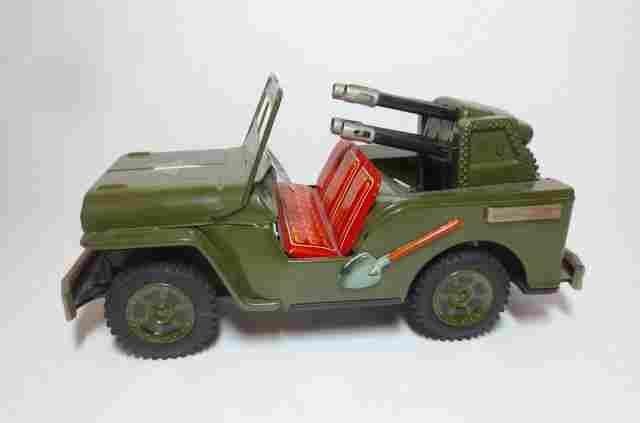 Japan Tin Friction U.S. Army Artillery Jeep