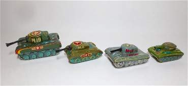 Japan Assorted Makers Tin Friction Tanks