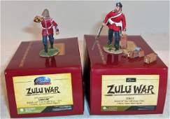 Britains Zulu War Matte Figures