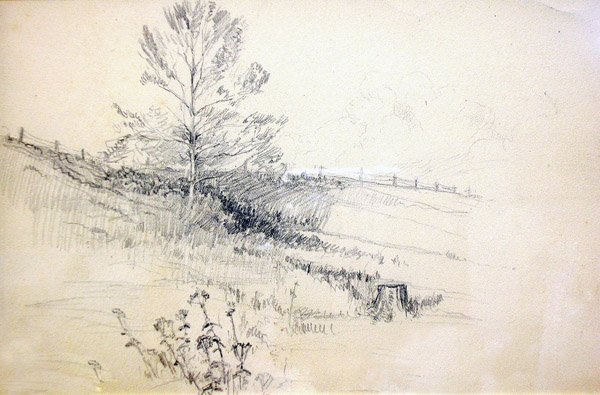 2: William Lathrop - Meadow with Fence