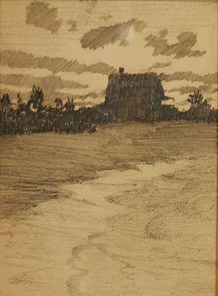 Henry Bayley Snell, House at Sunset
