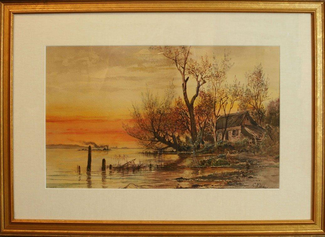 Carl Weber, Cabin on the River's Edge