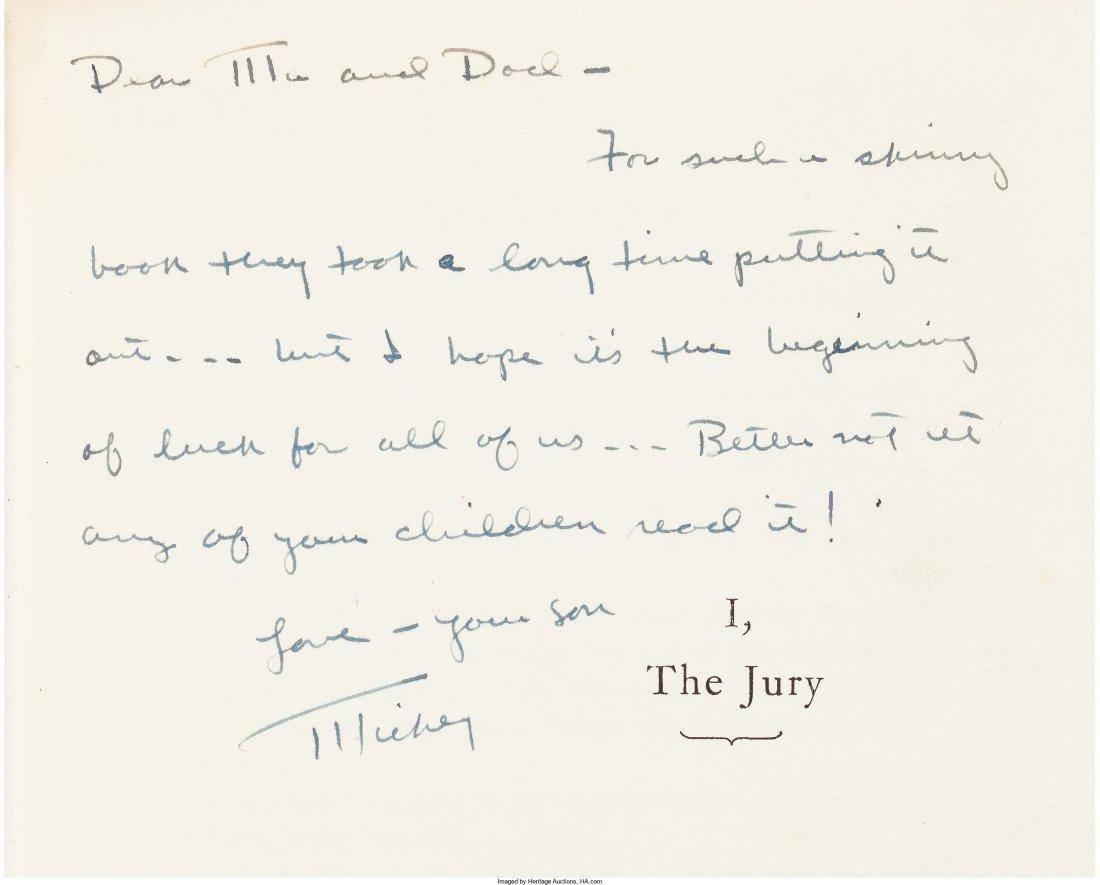 45002: Mickey Spillane. I, the Jury. New York: E. P. Du