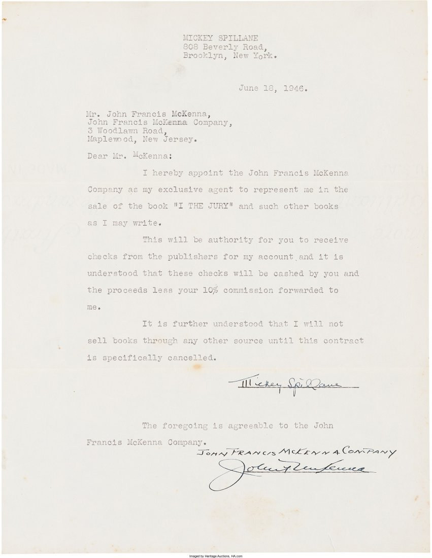 45003: Mickey Spillane. I, the Jury. New York: E. P. Du