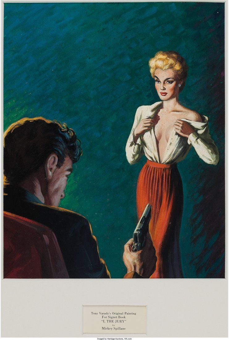 45004: [Mickey Spillane]. Tony Varady's Original Painti