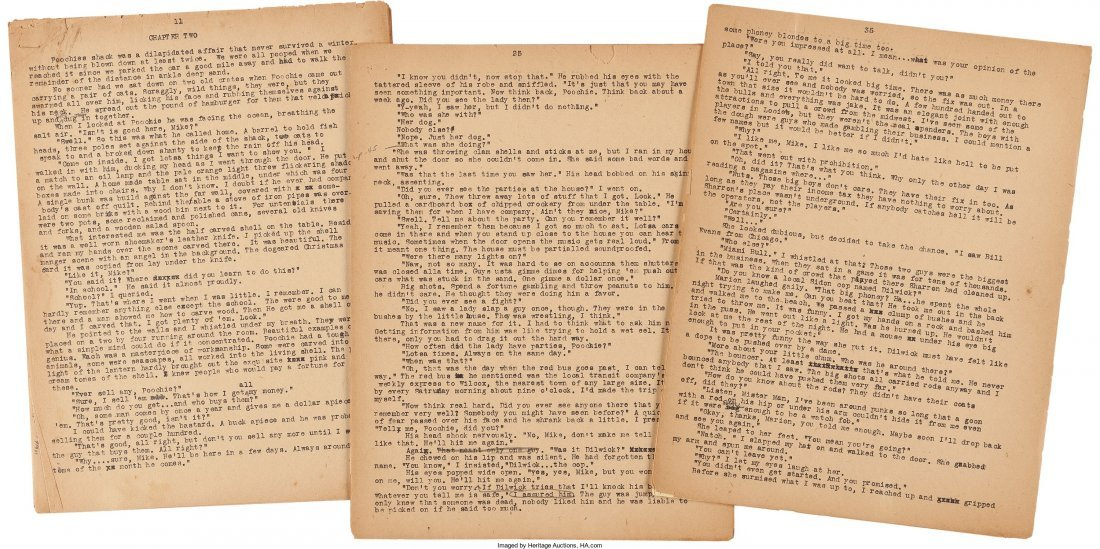 45005: Mickey Spillane. Original Typescript Manuscript