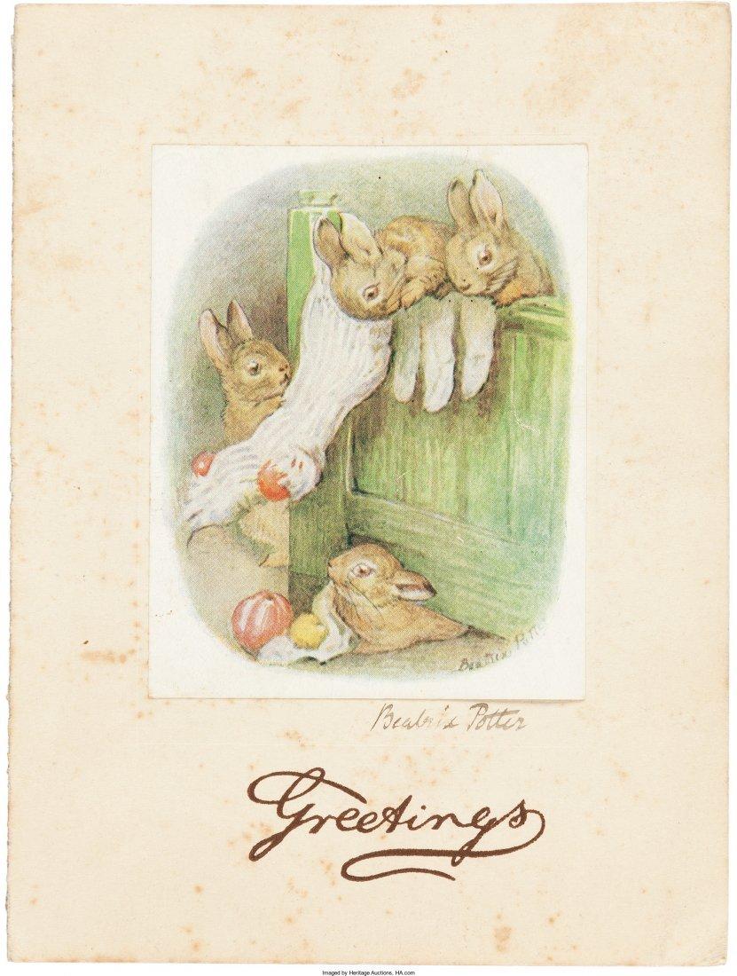 45209: [Beatrix Potter]. Autograph Beatrix Potter Chris