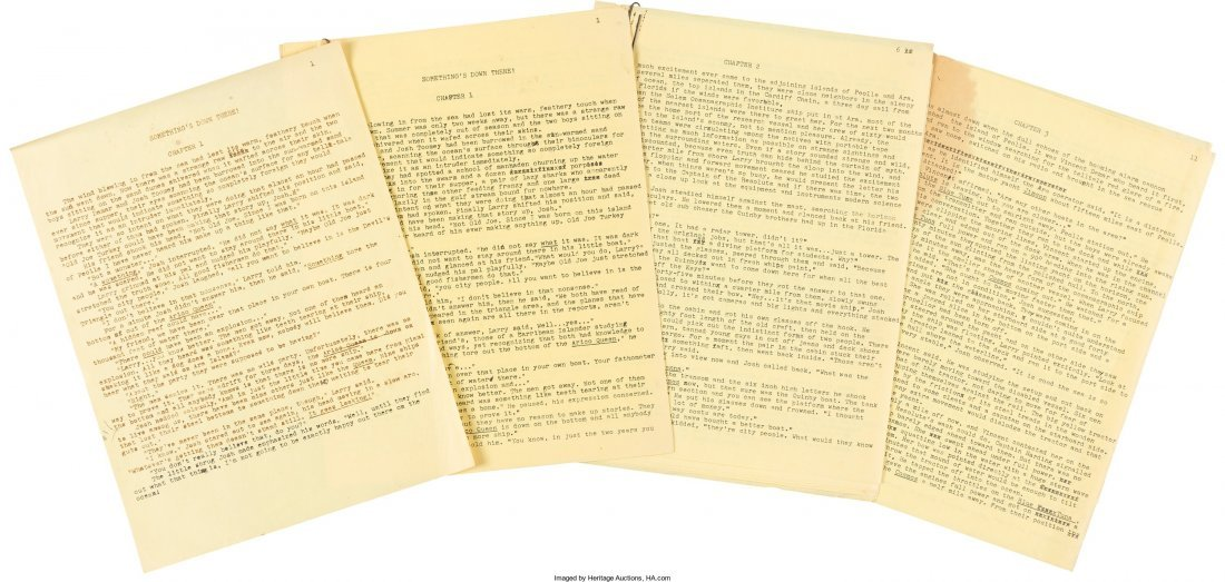 45017: Mickey Spillane. Production Archive of Something