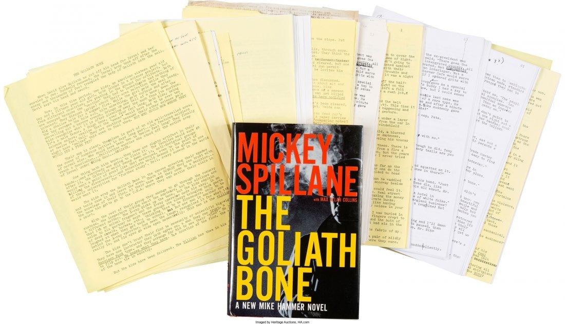 45019: Mickey Spillane. Production Archive for The Goli