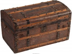 45333: [Mark Twain]. Stagecoach Trunk once owned by Sam