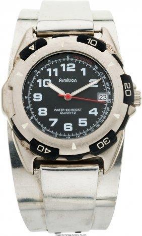 45058: [Mickey Spillane]. Wrist Watch Featured in The G