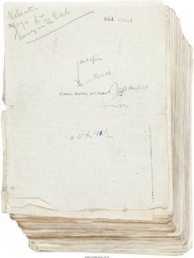 45287: Martin Flavin. Typescript for Journey in the Dar