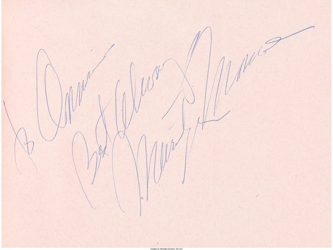 89004: A Marilyn Monroe (and Others) Signature in an Au