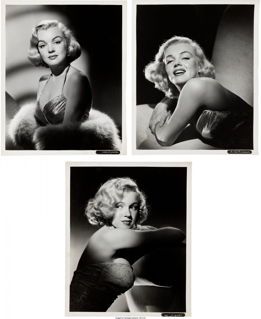 89005: A Marilyn Monroe Group of Rare Black and White P