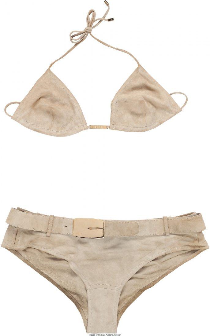 89012: A Farrah Fawcett Gucci Bikini, 1990s. Light tan