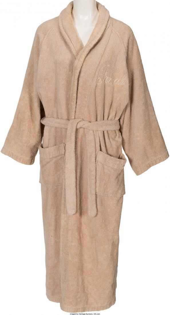 89013: A Farrah Fawcett Bath Robe, Circa 1990s. Tan ter