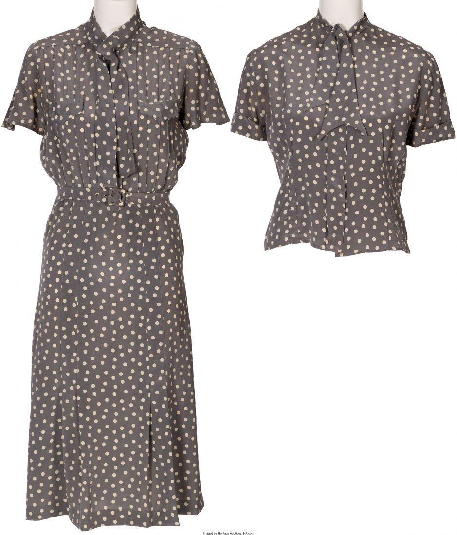 "89017: A Farrah Fawcett Dress and Blouse from ""Poor Lit"