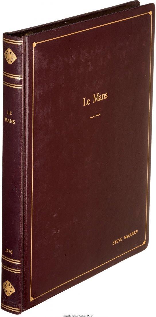 "89058: A Steve McQueen Owned Script from ""Le Mans."" Cin"